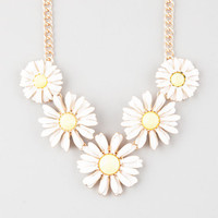 Full Tilt 5 Daisy Necklace Gold One Size For Women 25359962101