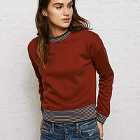 Don't Ask Why Ringer Sweatshirt, Rust