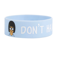 Bob's Burgers Tina Don't Have A Crap Attack Rubber Bracelet