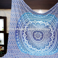 Hippie Tapestries, Wall Tapestries, Tapestry Wall hanging, Ombre Mandala Tapestries,  Decor Wall Art, Bohemian Tapestries, Indian Tapestries