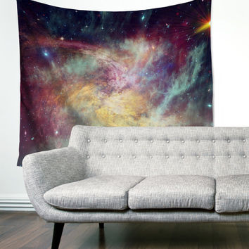 Painted Rainbow Galaxy Gypsy Unique Dorm Home Decor Wall Art Tapestry