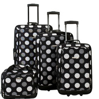 4Pc Blackdot Luggage Set