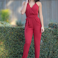 Maybelline Jumpsuit - Burgundy