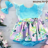 flutter sleeve onsie with skirt
