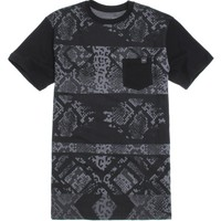 Young & Reckless Python T-Shirt - Mens Tee - Black
