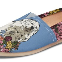 Illustrated Great Pyrenees Casual Shoes