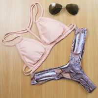 Bandage Bikini Set Swimsuit Swimwear Bathing Suit For Women