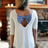 Ivory and Bow Top