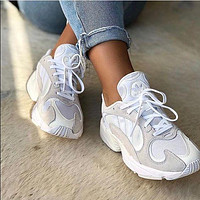 ADIDAS Yung-1 Retro Daddy Shoes Stripe Colorblock Sneakers Shoes