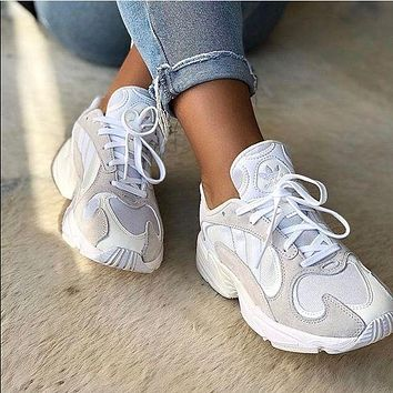 ADIDAS Yung-1 Retro Daddy Shoes Stripe Colorblock Sneakers White