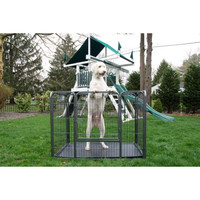 Heavy Duty Rectangle Tube pen Dog Cat Pet Training Kennel Crate - 28 Inch Height