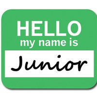 Junior Hello My Name Is Mouse Pad