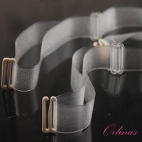 Clear Bra Straps, multiple width, pack of two, frosted and transparent