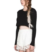 Jaggar Raven Crop Jumper | ShopAmbience