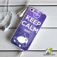 Pokemon Keep Calm And Snorlax iPhone 5 5S Case by Avallen