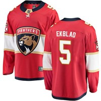 Men's Florida Panthers #5 Aaron Ekblad Fanatics Branded Red Home Breakaway NHL Jersey