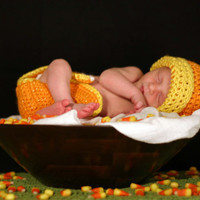 Baby Halloween Costume Photo Prop Candy Corn by conniemariepfost