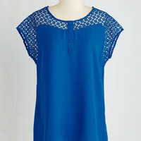 Boho Mid-length Cap Sleeves Tango Above and Beyond Top by ModCloth