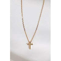 Micro Gold Cross Necklace
