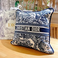 Christian Dior Embroidered Pattern Letter Logo Sofa Pillow Pillow #5