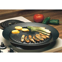 Healthy Cooking Smokeless Indoor Non stick Portable Stovetop Barbeque Grill
