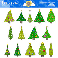 Christmas Trees Digital Clipart. Xmas Trees Clip Art for Instant Download. Christmas Clipart. Clip Art. Christmas Trees Clipart.