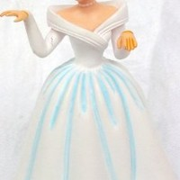 "Disney Princess Cinderella in Wedding Gown, 3"" Figure Doll Toy Cake Topper"