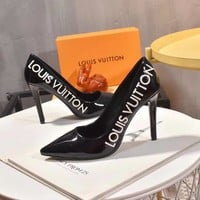 TOP Quality 2020 office  LV Louis Vuitton Women Fashion Leather High Top Boots high Heels flats Shoes Autumn Winter cm