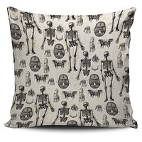 Vintage Anatomy Pillow Cover