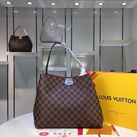 LV Louis Vuitton WOMEN'S MONOGRAM CANVAS GRACEFULL HANDBAG TOTE BAG