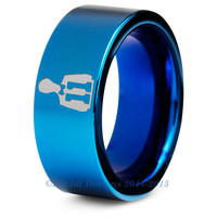 Dr Who 11th Dr Blue Tungsten Pipe Cut