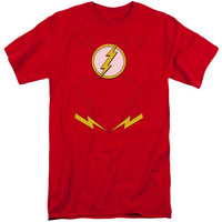 JLA/NEW FLASH COSTUME-S/S ADULT TALL-RED