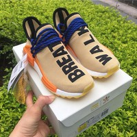 Best Online Sale Adidas NMD Human Race Pharrell Williams Pale Nude  Sport Running Shoes Classic Casual Shoes Sneakers