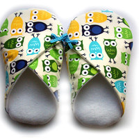 Womens Slippers, Owls, In Sizes S M.. on Luulla
