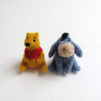 Eeyore needle felted miniature
