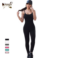 2016 Solid Sexy Strap Backless Bodycon Bandage Long Pants Summer Basic Jumpsuit Women Sexy Rompers One Piece Bodysuits For Women