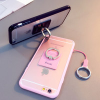 Cool 3Pcs Case Ring Necklace Cover for iPhone 5se 5s 6 6s Plus Gift-83