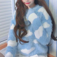 FUZZY CLOUDS SWEATER