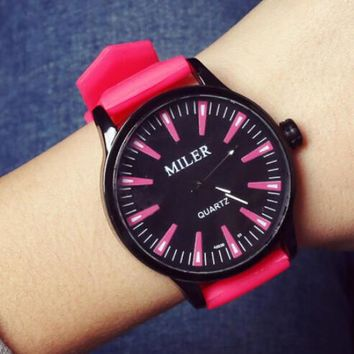 women mens jelly silicone watch christmas gift box 26  number 1