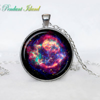 Cassiopeia Nebula   Pendant  Nebula Cassiopeia Nebula Necklace Galaxy necklace Space universe pendant  Necklace for him  Art Gifts for Her