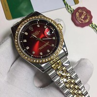 Rolex new retro ladies stitching color casual business watch