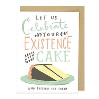 celebrate with cake card