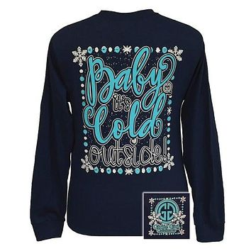 Girlie Girl Originals Christmas Baby It's Cold Outside Long Sleeves T Shirt