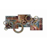 """Deco 79 Metal Wood Wall Decor, 36 by 17"""""""