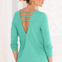 V-Neck Back Loose Shirt B0013769
