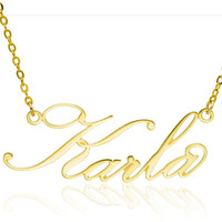 Name Necklace, Gold Name Necklace, Personalized Necklace Delicate Name Necklace