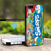 The Smurfs Movie - Design on Hard Cover For iPhone 4/4s Case - iPhone 5 Case - Black or White (Option)