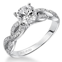 "Artcarved ""Gabrielle"" Diamond Twist Engagement Ring"