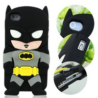 3D Cartoon Hero Batman  Soft Silicone Back Case Cover Skin for Apple iPhone 4 4S