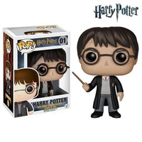 Funko - POP Harry Potter Figure Dobby Ron Hermione Severus Magic Wand Joa